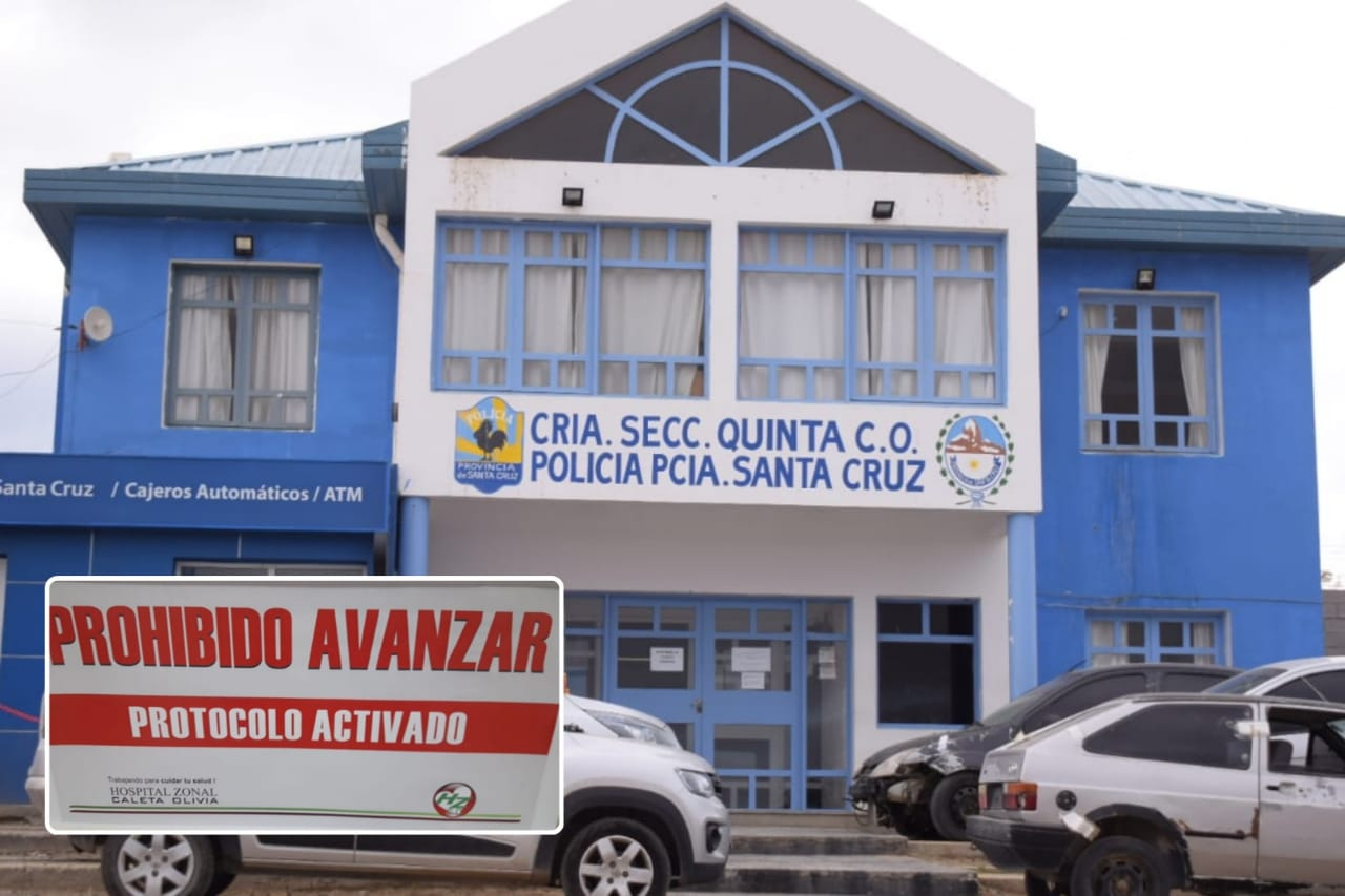 URGENTE: Confirmaron el primer caso positivo en la Comisaría Quinta de Caleta Olivia, hay 8 aislados